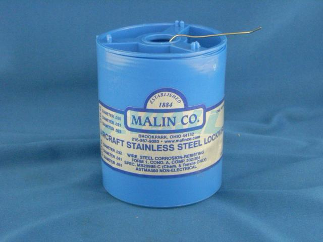 Malin Wire | 1lb Aircraft Stainless Steel Lock Wire Safety Wire 0 041 Malin