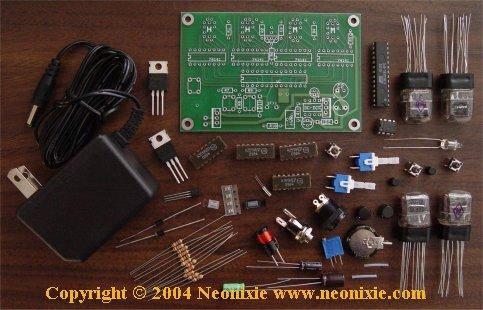 4 Digit IN-17 Nixie Tube Clock Kit IN174D - All Spectrum