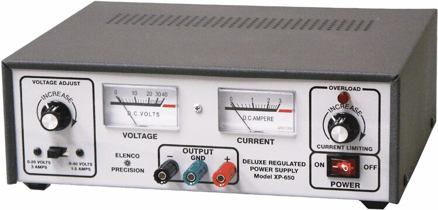 Variable DC Voltage Supply, Solid-State DC Power Supply 0-30VDC @ 3A